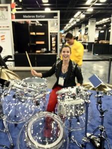 Alexa drumming @ NAMM