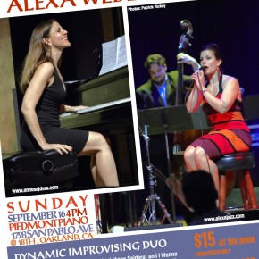 Anne Sajdera + Alexa Weber Morales = Two Composers @ Piedmont Piano Company 9/16 4pm