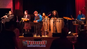 Alexa Weber Morales with the all-female Azucar Quintet at Yoshi's Oakland