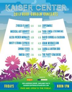Alexa Weber Morales plays Kaiser Center Rooftop Garden Concert June 28, 2013.