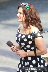 Alexa Morales singing live on Good Day LA