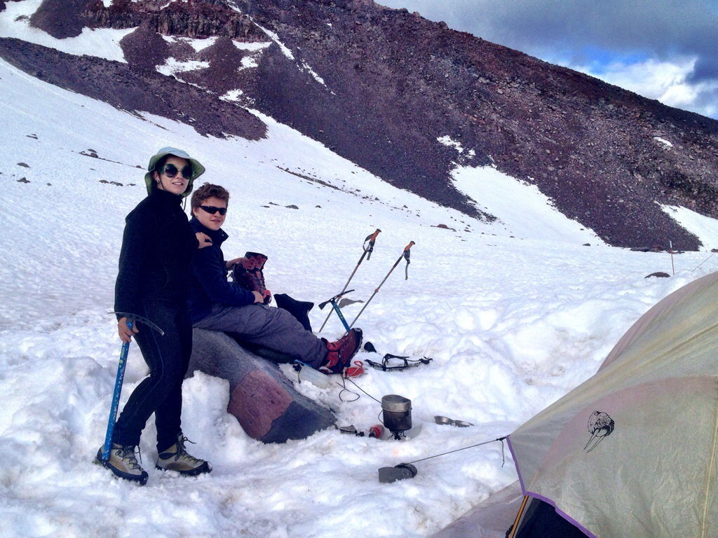 Boiling snow at Helen Lake