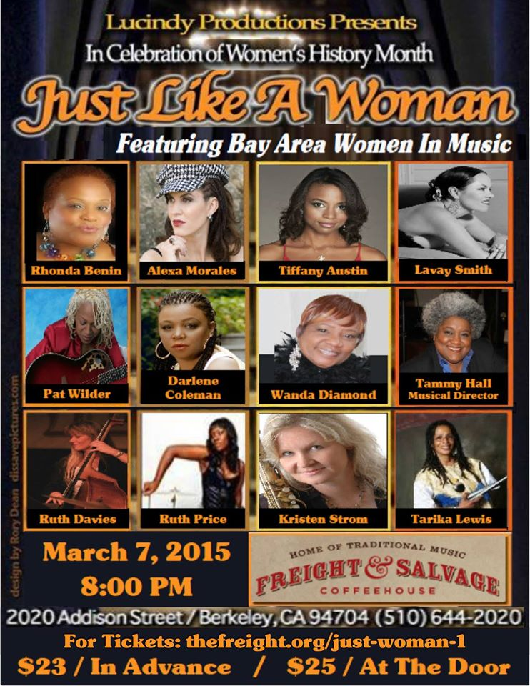 Just Like a Woman - Freight and Salvage - March 7 2015