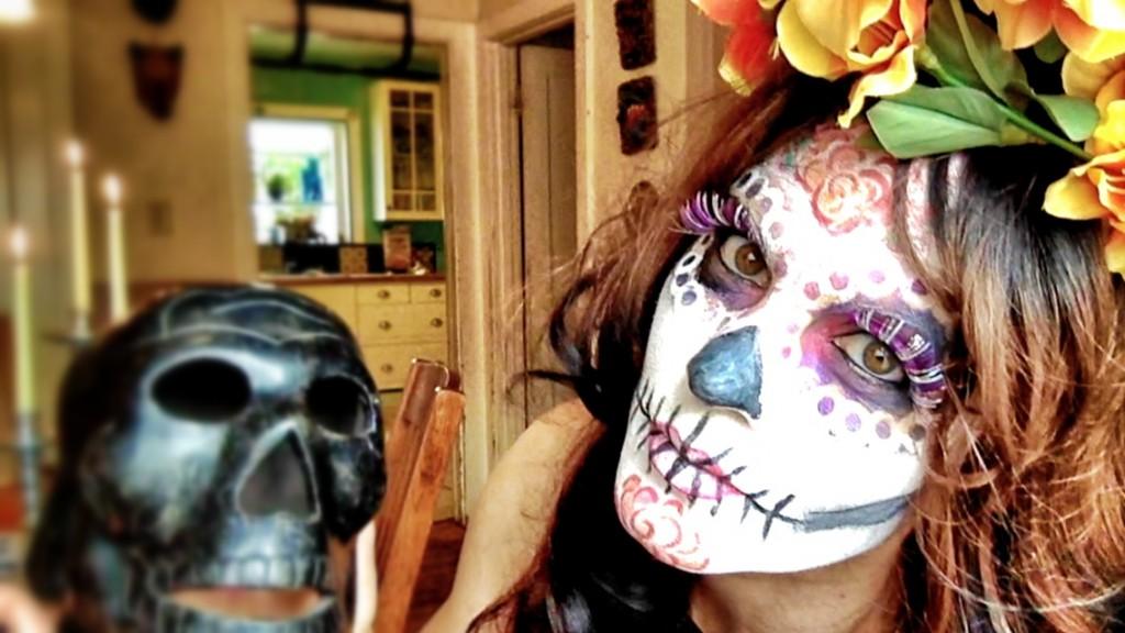 La Catrina Halloween makeup tutorial