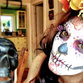 La Catrina (sugar skull) Halloween makeup tutorial