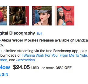 CyberMonday! Now you can buy my full discography for 35% off with 1 click on Bandcamp!