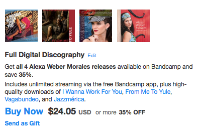 Download Alexa's full discography for 35% off!