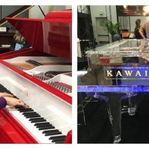 Impressions of NAMM 2017 - Day two - piano car - lucite piano - Jake Shimabukuro