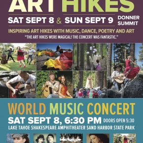 Alexa Morales sings at the Donner Summit Art Hikes on September 9, 2018